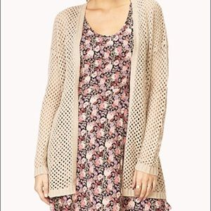 Cozy forever 21 open knit cardigan